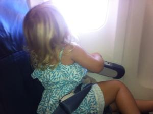 Eva on plane